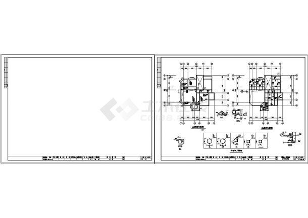 3层砖混结构单家独院式别墅建筑结构设计施工图-图一