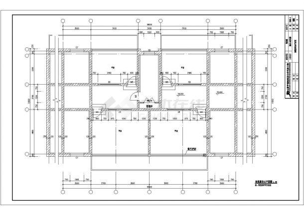 苏州市房地产开发公司底商私人住宅楼设计CAD详细建筑施工图-图一