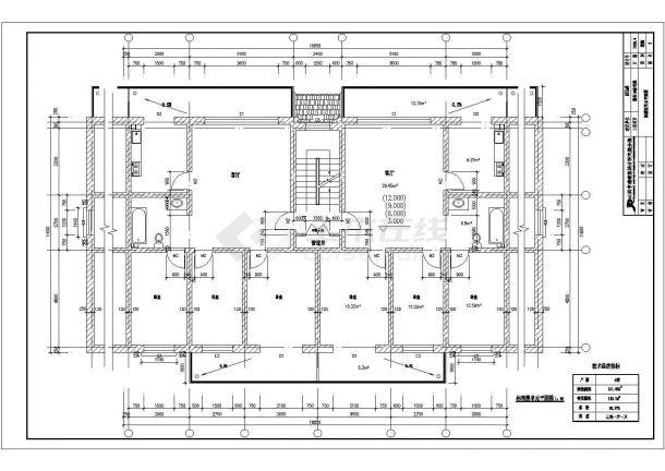 苏州市房地产开发公司底商私人住宅楼设计CAD详细建筑施工图-图二