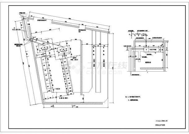 某变配电工程(两台1600KVA变压器)设计cad全套电气施工图纸(含设计说明)-图一