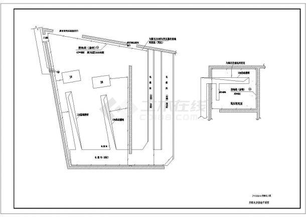 某变配电工程(两台1600KVA变压器)设计cad全套电气施工图纸(含设计说明)-图二