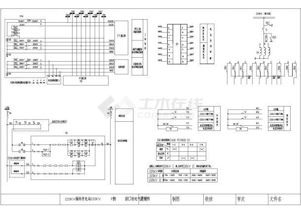 某220KV变电站10KV侧PT接口屏设计cad电气原理图(标注详细)-图二