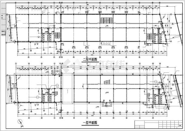 泉州市某配电厂5千平米4层框架结构办公楼全套建筑结构设计CAD图纸-图二