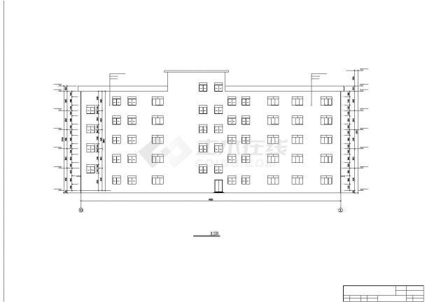 西安某航空动力研究所5320平5层框架结构办公楼建筑结构设计CAD图纸-图二