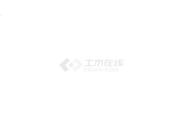 上海某跨国物流公司5440平米5层框架结构办公楼建筑结构设计CAD图纸-图二