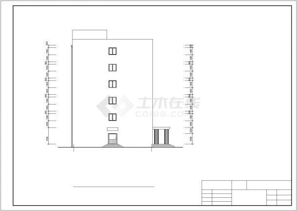 北京西单地区某科研所5600平6层框架结构办公楼建筑结构设计CAD图纸-图一