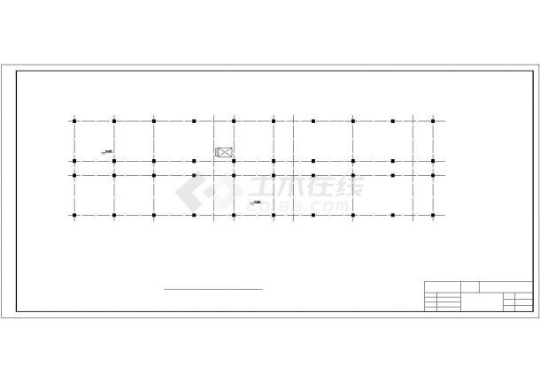 北京西单地区某科研所5600平6层框架结构办公楼建筑结构设计CAD图纸-图二