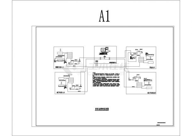 某医院停车场管理系统电气设计图纸cad-图二