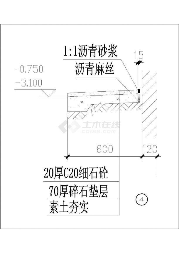 上海某金融公司6470平米6层框架结构办公楼建筑结构设计CAD图纸-图一