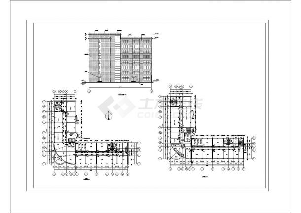 金华市广科创业园1万平米8层框架结构办公楼建筑结构设计CAD图纸-图二