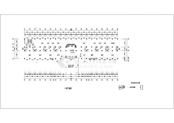 土木工程毕业设计_办公楼设计_某一字型框架办公楼毕业设计完整资料(含详细计算书、开题报告)-图二