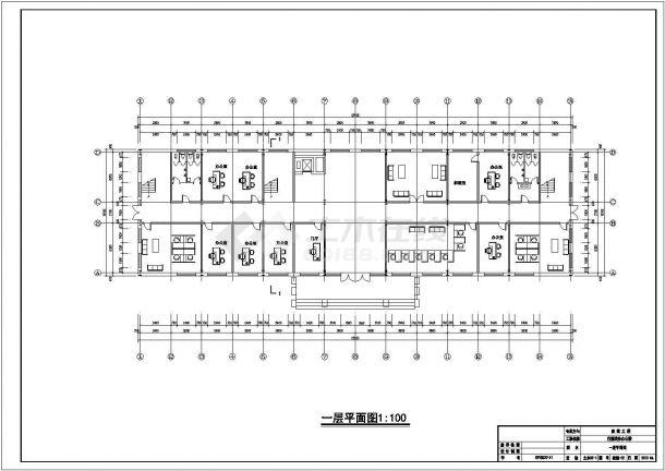 武汉某食品加工厂4430平米5层钢框架结构办公楼建筑结构设计CAD图纸-图二