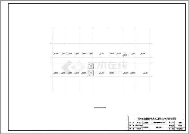 温州市某大型服装厂4650平米6层框架结构办公楼建筑结构设计CAD图纸-图一