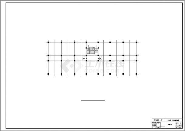 土木工程毕业设计_办公楼设计_某七层办公楼毕业设计完整资料(含详细计算书、结构图)-图一
