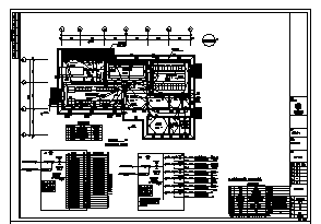 某单层中心变电站电气施工cad图(含配电、照明、防雷接地、弱电设计)-图二