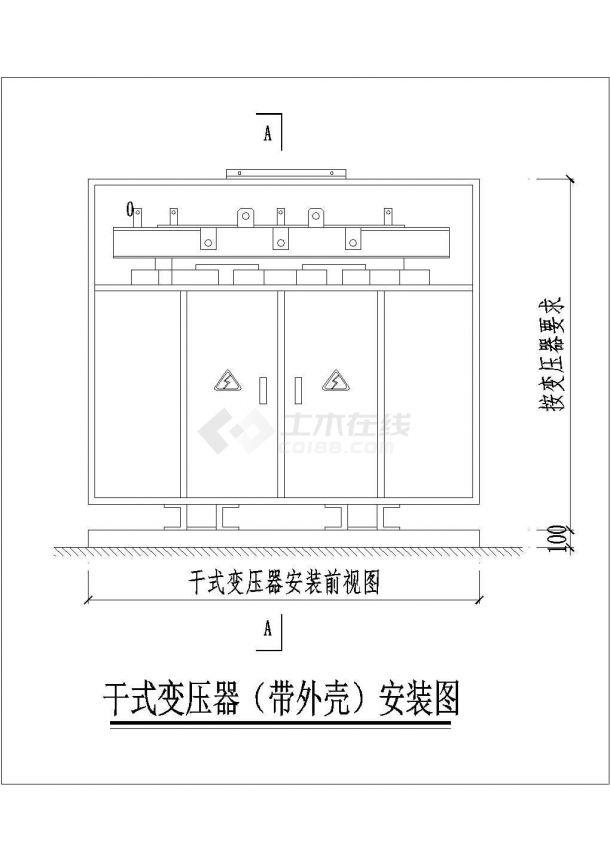 带外壳干式变压器电气CAD原理图设计-图一