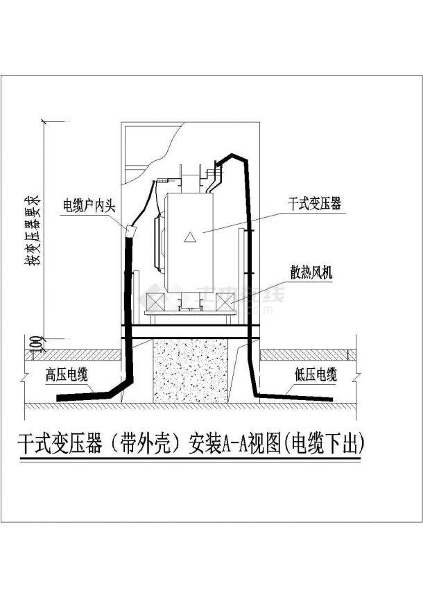 带外壳干式变压器电气CAD原理图设计-图二