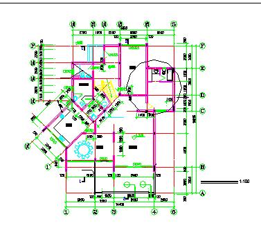 某度假区别墅建筑方案cad设计图纸-图二