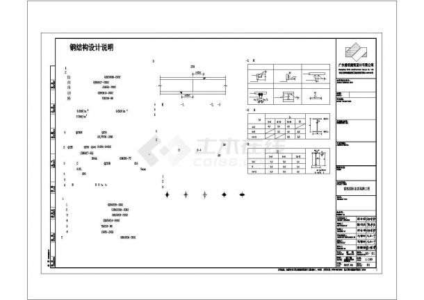 钢结构阁楼、钢结构楼梯结构CAD施工图-图二