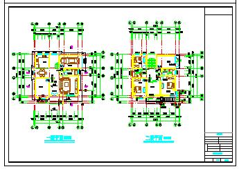 上海某别墅建筑施工cad设计图-图一
