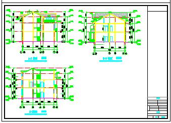 上海某别墅建筑施工cad设计图-图二