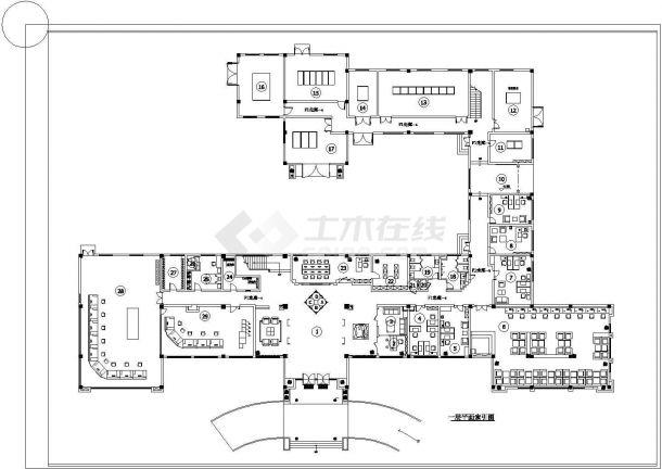 某办公楼整层室内装饰地面材料cad设计施工图-图一