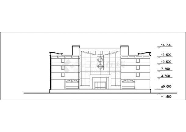 阆中市某新建小区总平面规划设计CAD图纸(含单体建筑图/7套方案)-图二