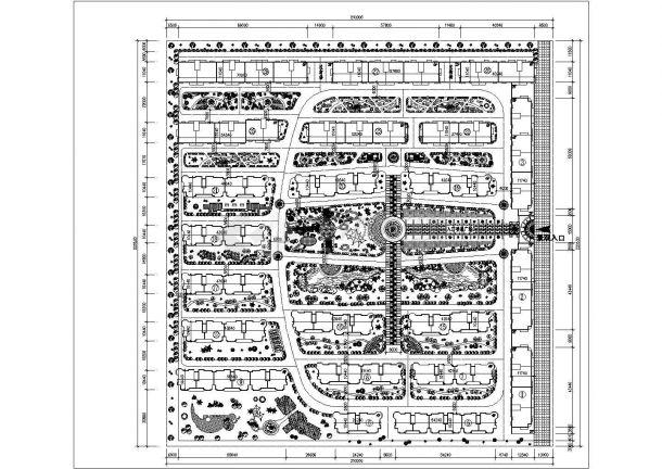 南昌市贵馨家园小区总平面规划设计CAD图纸(占地4.7万平米)-图一