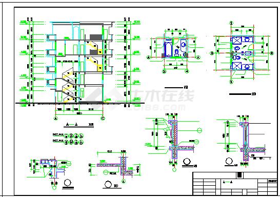 某地区私宅全套建筑cad设计施工图-图二