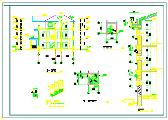 某私宅设计建筑cad设计图纸-图一