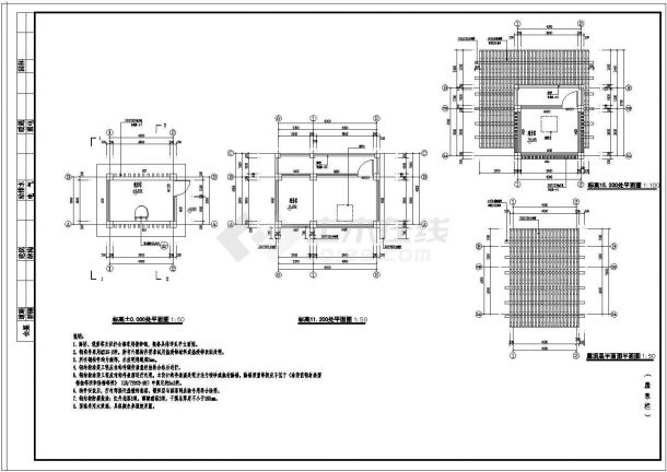 20米高树蛙景观观光塔建筑设计CAD图-图一