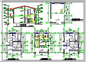 某小别墅全套建筑cad设计施工图纸-图一