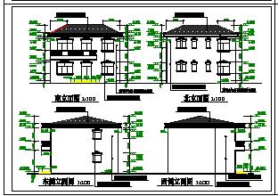 某小别墅全套建筑cad设计施工图纸-图二