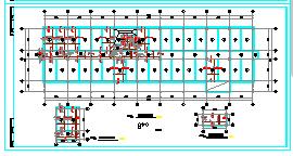 某五层办公楼框架结构CAD设计施工图-图二