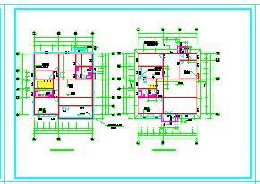 小型别墅建筑施工cad设计图纸-图一