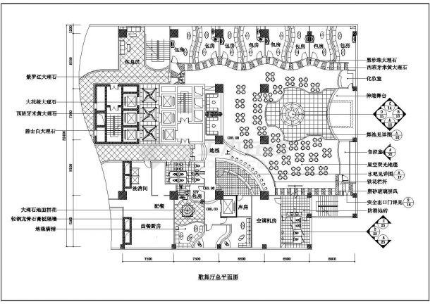 柳州歌舞厅设计方案底商私人住宅楼设计CAD详细建筑施工图-图一