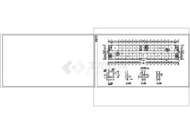 办公楼设计_7+1夹层9462.13平米混凝土框架结构就业培训办公楼建施cad非常标准图纸-图二