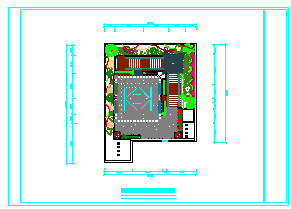 某中医院屋顶花园绿化cad设计-图一