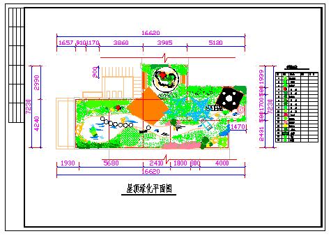 某别墅屋顶花园绿化设计平面cad图纸-图二