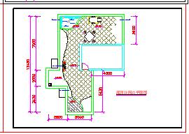 某别墅屋顶花园景观cad设计方案图-图二