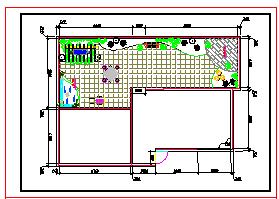 某别墅屋顶花园设计方案cad景观图纸-图二