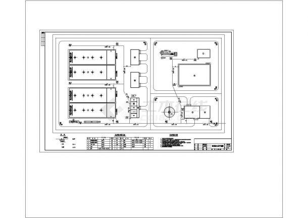 河南日处理水量15000吨污水处理厂工艺图纸-图一