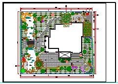 别墅庭院景观绿化设计平面cad施工图-图一