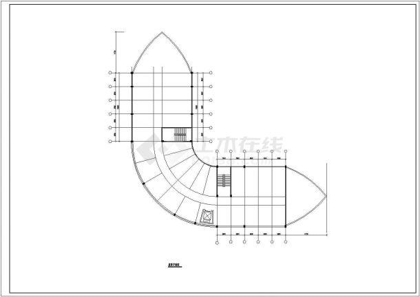 张家口大酒店设计方案底商私人住宅楼设计CAD详细建筑施工图-图一