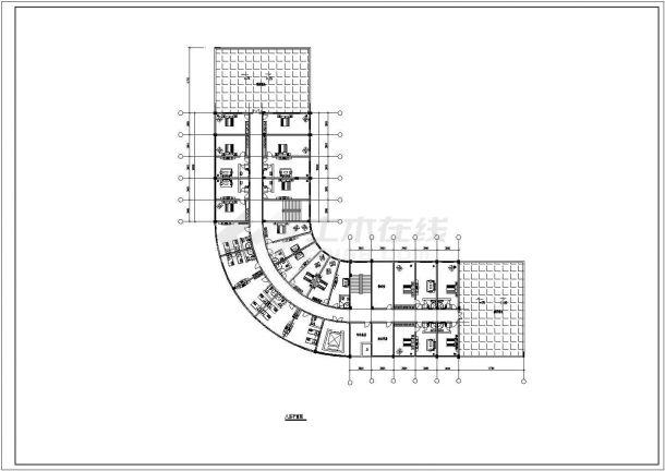 张家口大酒店设计方案底商私人住宅楼设计CAD详细建筑施工图-图二