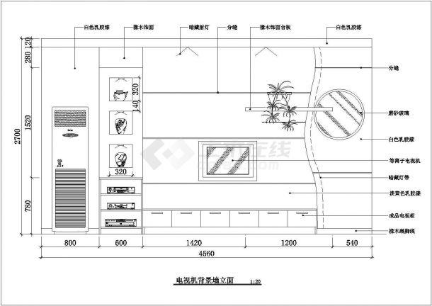 南京郊区某地大三居豪宅全套室内精装修cad设计方案图-图二
