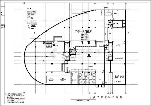 地下室人防建筑设计方案图纸-图一