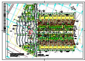 某市桥南公园绿化cad设计施工图-图一