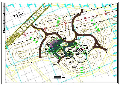 某市桥南公园绿化cad设计施工图-图二