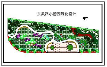 小游园绿化设计平面cad图纸-图一